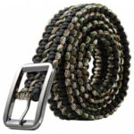 47 Inch Survival Woven Rope Belt  			Outdoor Survival Tool