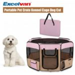 Excelvan Oxford Portable Soft Pet Puppy Tent Dog Cat Playpen  Fabric New Pink M