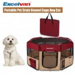 Excelvan Oxford Portable Soft Pet Puppy Tent Dog Cat Playpen  Fabric New Red L