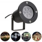 YouOKLight YK2281 1PCS 12W Holiday Decoration Waterproof Outdoor LED Cool White Stage Lights LED Christmas Laser Snowflake Projector Lamp AC 100-240V