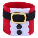 6pcs Christmas Costumes Napkin Ring Serviette Holder