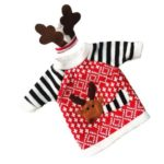 5pcs Christmas Reindeer Knitted Sweater Wine Bottle Cover