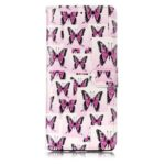 Embossed Butterfly Pattern Leather Cover Case for Samsung Galaxy Note 8