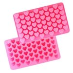 MCYH Heart Shape Silicone Cake Chocolate Molds 2PCS