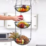 3 – Tier Wire Hanging Basket Fruit Vegetable Basket