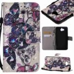 Explosions 3D Painted PU Phone Case for HUAWEI Y5 2017 / Y6 2017
