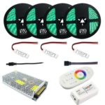 1Set YWXLight 20M 5050 RGB DC 12V LED Flexible Waterproof Light Strips Power Supply