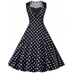 Vintage Polka Dot Pin Up Party Dress