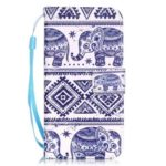 Elephant Pattern PU Leather Flip Wallet Case for iPhone 7 / 8