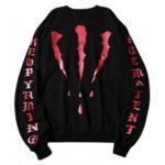 Men's Scratches Printed Round Collar Loose Sweatshirt