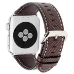 42mm Genuine Leather Strap Replacement Band with Stainless Metal Clasp for  iWatch Series 3 / 2 / 1 Sport and Edition