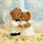 Novel Smokeless Cute Bear Couple Decorative Candle