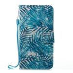 Banana Leaf Pattern 3D PU Leather Flip Wallet Case for iPhone X