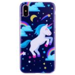 Pegasus Pattern Soft TPU Clear Case for iPhone X