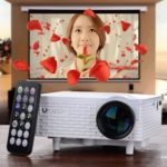 Uhappy Mini Portable Projector