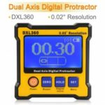 DXL360S Digital LCD Protractor Inclinometer  		Single and Dual Axis Level Box