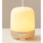 Emoi H0028 Wooden Aroma Diffuser Lamp,Multifunction of Diffuser, Humidifier and Lamp, Integrated 6 Color Changing LED Lamp, For Home Yoga Office Bedroom, PP+wood, UK.