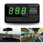ZIQIAO Universal Car HUD Head-Up Display GPS Speedometer – Black