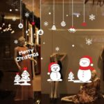 AWOO m – 64 Christmas Subject Little Snowman Wall Sticker
