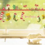 Christmas Socks Gifts Decorative PVC Wall Sticker