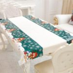 Disposable Table cloth Merry Christmas Rectangular Printed PVC Cartoon Tablecloth
