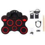 iWord G3003 Portable Hand Roll Up Silicone Electronic Drum Built-in Speaker Support DTX Game