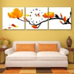 Special Design Frameless Paintings Yellow Plum Flower Print 3PCS