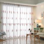 Korean Pastoral Style Living Room Bedroom Children's Room Lavender Embroidery Curtain  Grommet