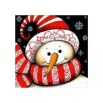 Naiyue 6376 Cartoon Snowman Print Draw Diamond Drawing