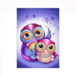 Naiyue 6173 Cartoon Owl Print Draw Diamond Drawing