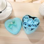 Heart Shaped Soap Flowers Box with 6 Roses