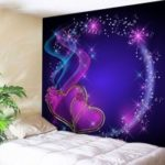 Valentine's Day Wall Hanging Art Heart Print Tapestry
