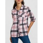 Plaid Pocket Tunic Shirt