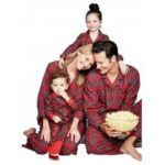 Red checked Christmas style home pajamas