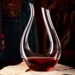 HESSION 1200ml Elegant U-shaped Horn Wine Decanter Carafe