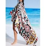 Rectangle Printed Summer Beach Cover Throw