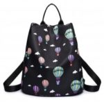 Women Nylon Fabric Backpack Fashion Printing Balloon Bags