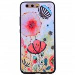 Pink flower Phone Case For Huawei P10 Fashion Cartoon Relief Soft Silicone TPU For Huawei P10 Cover Cases Protection
