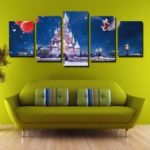 Modern Creative Canvas Prints for Christmas Frameless Home Decoration 5pcs