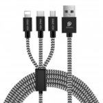 3 in 1 Braided Fast Charger Cable for 8 Pin Micro USB Type-C Devices