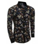 Men's Party Going out Club Vintage Active Chinoiserie All Seasons Shirt Floral Standing Collar Long Sleeves Polyester shirt