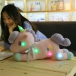 Cute Stuffed Animal Unicorn Plush Doll Toy with Light 1pc