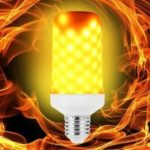 LED Flame Light Bulb Emulation Flaming Decorative Lamp
