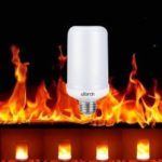 Utorch E27/E26 3528 SMD LED Flame Effect Fire Light Bulbs Flickering AC 85 – 265 V