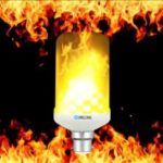 BRELONG LED Flame Light Bulb Emulation Flaming 3 mode Decorative Lamp – B22