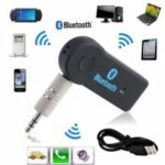 Bluetooth Music Audio Stereo Adapter Receiver for Car 3.5mm AUX Home Speaker MP3 for Car Music Sound System Hands Free Calling Built-in Mic