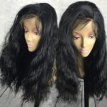 Long Side Parting Fluffy Natural Wavy Synthetic Lace Front Wig