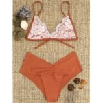 Scrunch Lace Overlay Bikini Set