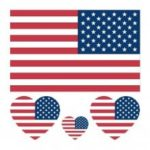 United States American US Flag Waterproof Temporary Tattoo 10PCs