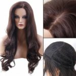 Long Side Parting Wavy Synthetic Fiber Wig